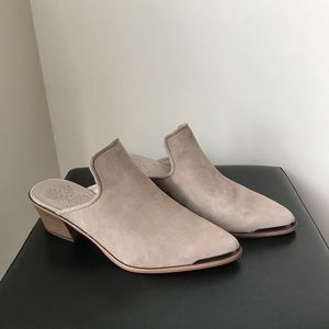 New Vince Camuto Leather Suede Clogs Shoes